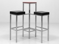 art. no. A1074 - Double Bar Stool With Table black